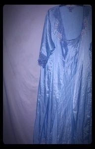 Woman Within Blue Gown Robe Set 4X Plus